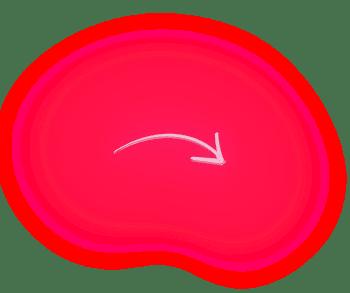 Seta vermelha apontando para direita